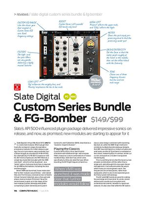 Computer Music Slate Digital Custom Series Bundle & FG-Bomber