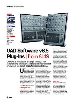 Future Music UAD Software v8.5 Plug-Ins
