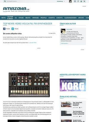 Amazona.de Top News: Korg Volca FM, FM-Synthesizer