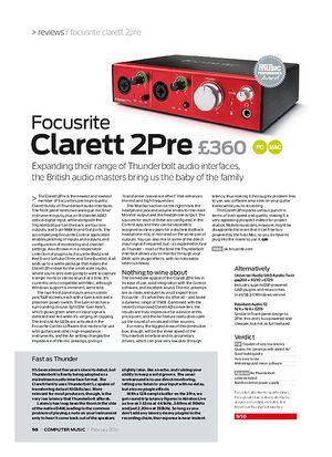 Computer Music Focusrite Clarett 2Pre