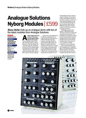 Future Music Analogue Solutions Nyborg Modules