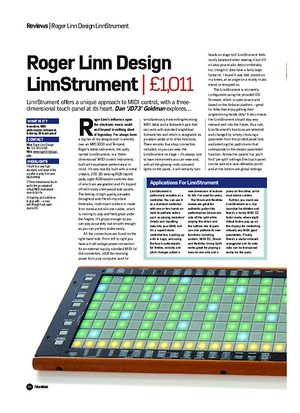 Future Music Roger Linn Design LinnStrument
