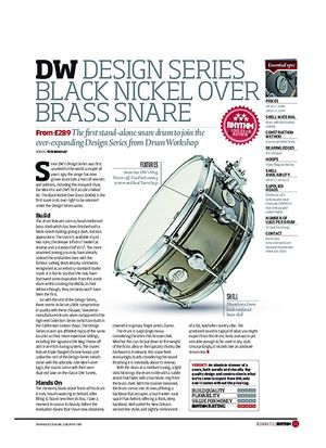 Rhythm DW Design Series Black Nickel Over Brass Snare