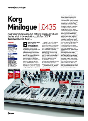 Future Music Korg Minilogue