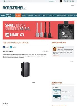 Amazona.de Test: Alto TS212, Aktivbox