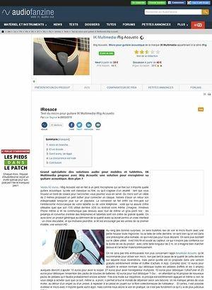 Audiofanzine.com IK Multimedia iRig Acoustic