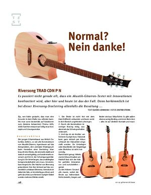 Gitarre & Bass Riversong TRAD CDN P N
