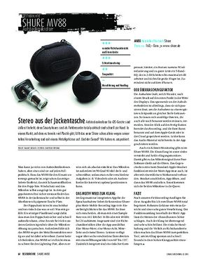 Sound & Recording Shure MV88 - Mikrofonaufsatz für iOS-Geräte