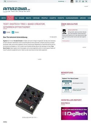 Amazona.de Test: Digitech Trio+ Band Creator, Gitarren-Effektgerät