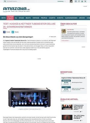 Amazona.de Test: Hughes & Kettner Tubemeister Deluxe 20, Gitarrenverstärker