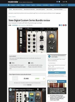 MusicRadar.com Slate Digital Custom Series Bundle