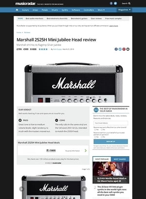 MusicRadar.com Marshall 2525H Mini Jubilee Head