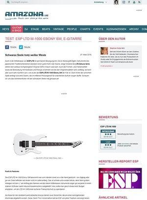 Amazona.de Test: ESP LTD M-1000 Ebony SW, E-Gitarre