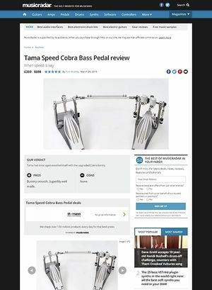 MusicRadar.com Tama Speed Cobra Bass Pedal