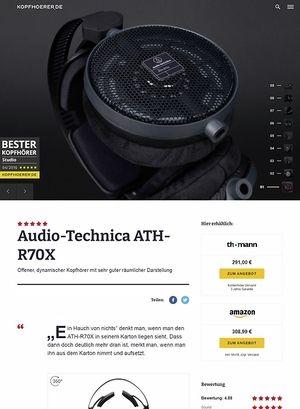 Kopfhoerer.de Audio-Technica ATH-R70 X
