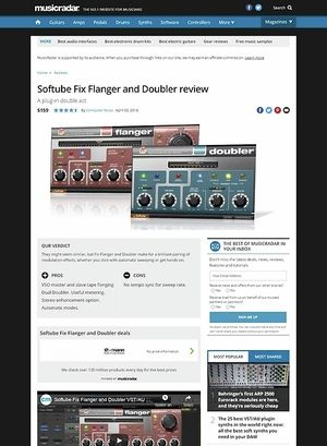 MusicRadar.com Softube Fix Flanger and Doubler
