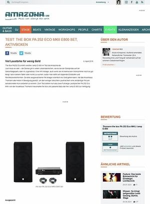 Amazona.de Test: the box PA 252 Eco MKII E800 Set, PA