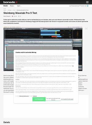 Bonedo.de Steinberg Wavelab Pro 9