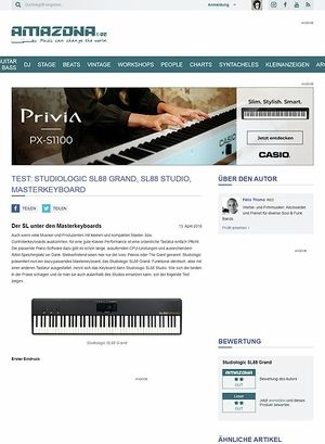 Amazona.de Test: Studiologic SL88 Grand, SL88 Studio, Masterkeyboard