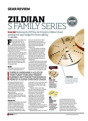 Rhythm Zildjian S Family Series