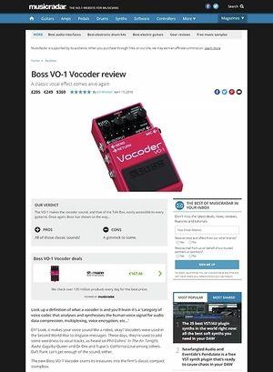 MusicRadar.com Boss VO-1 Vocoder