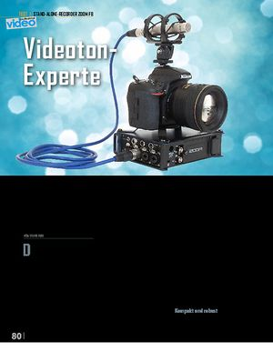 Professional Audio Zoom F8