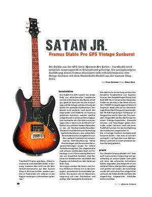 Gitarre & Bass Framus Diablo Pro GPS Vintage Sunburst