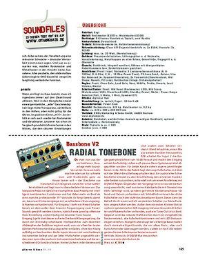 Gitarre & Bass Radial Tonebone Bassbone V2, Bass Preamp