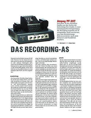 Gitarre & Bass Ampeg PF-20T, Bass-Verstärker