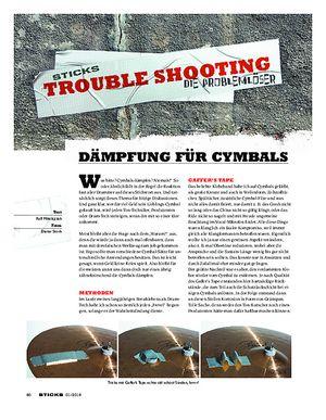 Sticks Dämpfung für Cymbals
