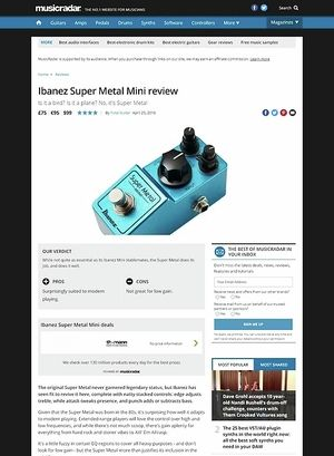 MusicRadar.com Ibanez Super Metal Mini