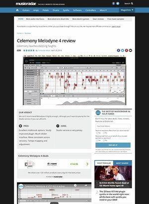 MusicRadar.com CelemonyMelodyne 4