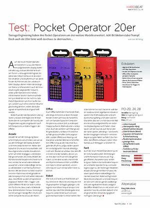 Beat Pocket Operator 20er