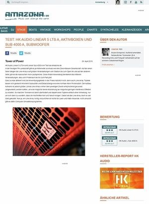 Amazona.de Test: HK Audio Linear 5 LTS A, PA-Lautsprecher und Sub 4000 A, Subwoofer