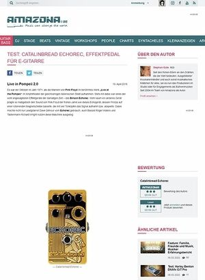 Amazona.de Test: Catalinbread Echorec, Effektpedal für E-Gitarre