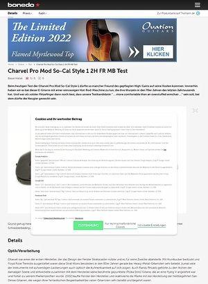 Bonedo.de Charvel Pro Mod So-Cal Style 1 2H FR MB