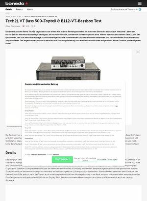 Bonedo.de Tech21 VT Bass 500-Topteil & B112-VT-Bassbox