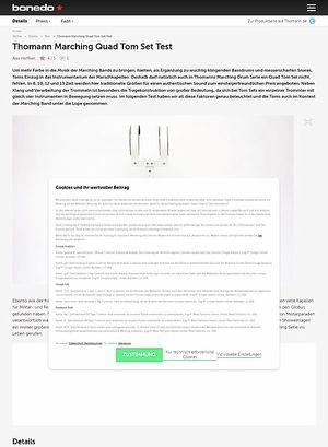 Bonedo.de Thomann Marching Quad Tom Set