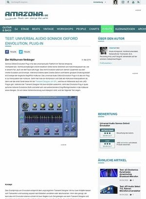 Amazona.de Test: Universal Audio Sonnox Oxford Envolution, Plug-in