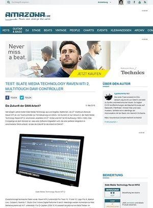 Amazona.de Test: Slate Media Technology Raven MTi 2, Multitouch DAW Controller