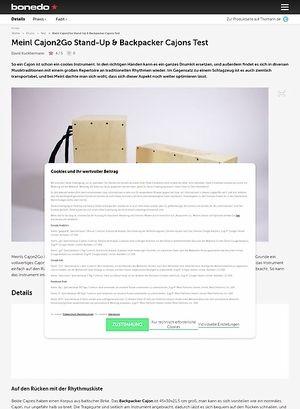 Bonedo.de Meinl Cajon2Go Stand-Up & Backpacker Cajons