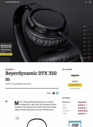 Kopfhoerer.de Beyerdynamic DTX-350m Black