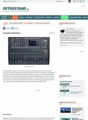 Amazona.de Test: Soundcraft Si Impact, Digitalmixer