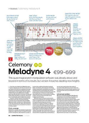 Computer Music Celemony Melodyne 4