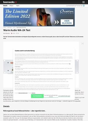 Bonedo.de Warm Audio WA-2A