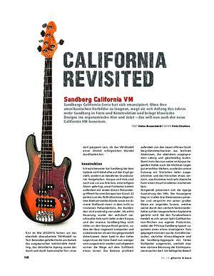 Gitarre & Bass Sandberg California VM, E-Bass