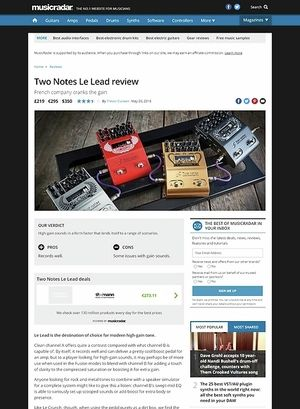 MusicRadar.com Two Notes Le Lead
