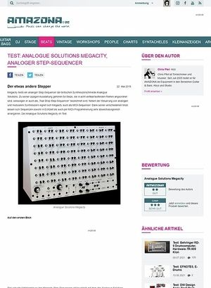 Amazona.de Test: Analogue Solutions Megacity, analoger Step-Sequencer