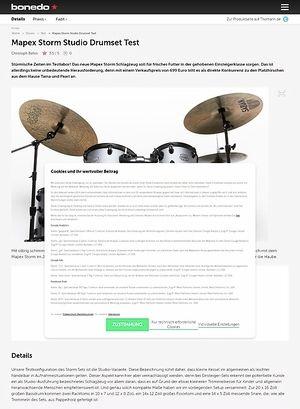 Bonedo.de Mapex Storm Studio Drumset