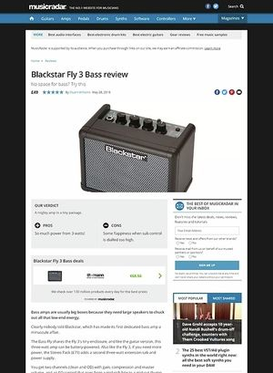 MusicRadar.com Blackstar Fly 3 Bass